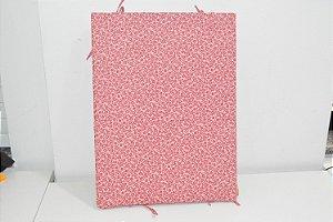 Bandeja de MDF  rosa com florzinhas