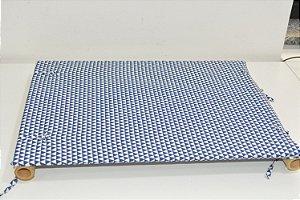 Bandeja de MDF mosaico azul e branco