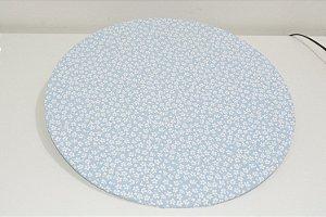 capa de sousplat fundo azul clao com florzinhas