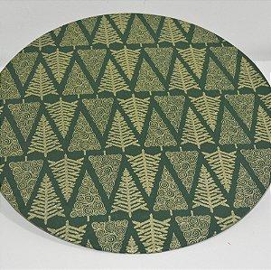 capa sousplat natal fundo verde com arvores douradas