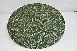 capa sousplat natal fundo verde com desenhos dourados