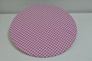 capa tecido tergal xadrez branco com rosa