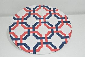 capa sousplat fundo branco moisaico azul e vermelho