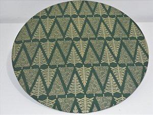 capa sousplat fundo verde arvores douradas