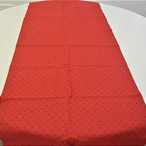 caminho de mesa vermelho com ancoras