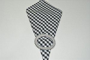 guardanapo xadrez preto e branco