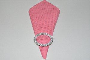 guardanapo de poá funfo rosa com bolinhas rosa pink