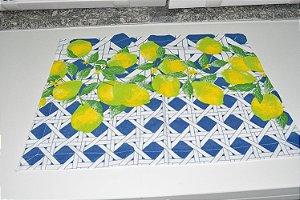 lugar americano mosaico com limão pequeno