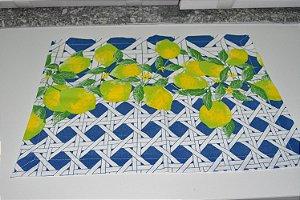 lugar americano mosaico com limão grande