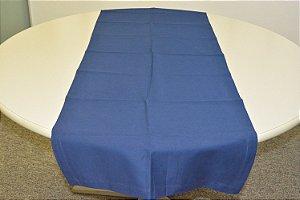 Caminho de mesa liso azul escuro