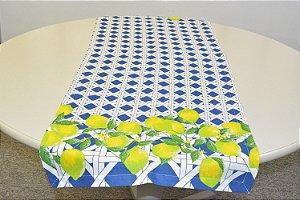 Caminho de mesa mosaico com limão