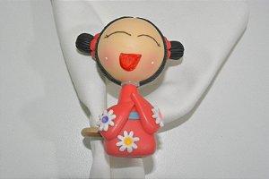 porta guardanapo boneca chinesa