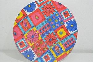 Capa sousplat flores coloridas