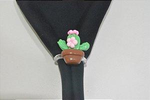 Porta Guardanapo cactos com florzinha rosa