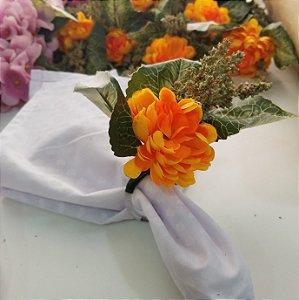 porta guardanapo flor laranja
