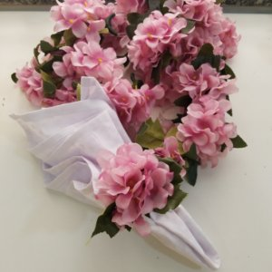 porta guardanapo hortensia rosa