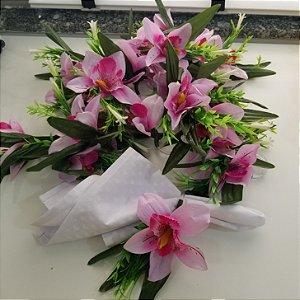 porta guardanapo lirio rosa
