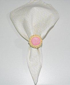 Porta guardanapo bolacha com recheio rosa