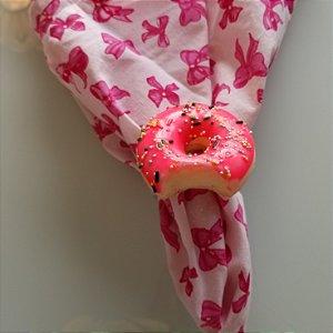 porta guardanapo donuts rosa