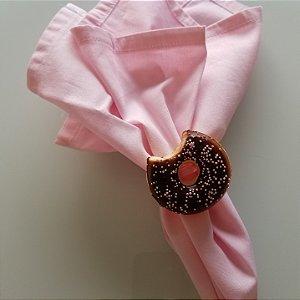 Porta guardanapo Donuts de Chocolate com bolinhas