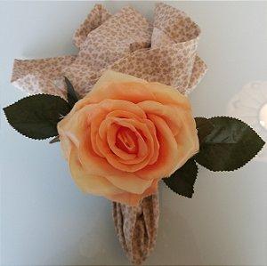 Porta Guardanapo Rosa Amarela com laranja