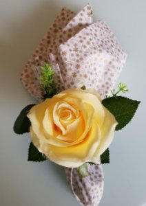 Porta guardanapo Flor Amarela