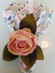 Porta guardanapo Rosa multiflora