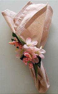 Porta guardanapo Flor pequena Rosa Claro