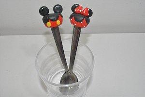 Kit 2 colher de chá minis bolinhos Mickey e Minnie
