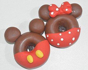 Kit 2 imãs rosquinha Mickey e Minnie