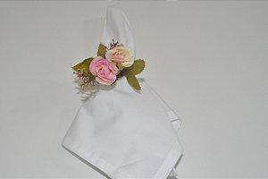 porta guardanapo flores pequenas rosa e amarela
