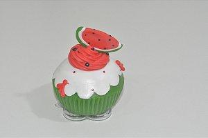 enfeite de mesa bolinho de melancia