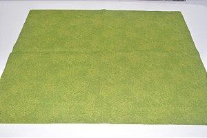 Lugar americano verde com manchinhas verde escuro