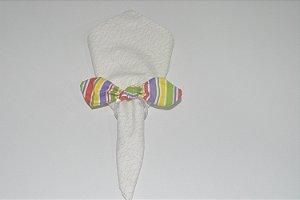Porta Guardanapo de tecido listrado colorido