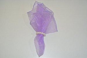 Guardanapo liso voal roxo clarinho transparente