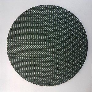 Capa de tecido Fundo verde com Zigue-zague dourados