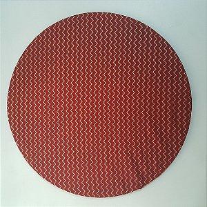 Capa de tecido Natal Fundo Vermelho com Zigue- zague Dourados