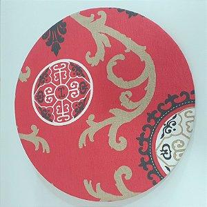 capa para sousplat oriental fundo vermelho