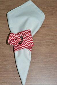 Porta guardanapo de tecido chevron pequeno vermelho