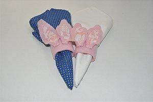 Kit 2 Porta Guardanapos Feltro orelinhas rosas