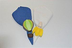 Kit 2 Porta guardanapos Feltro banana e balão