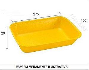 BANDEJA 275X150X29 (B4) - AMARELA FUNDA - LINHA LEVE - FARDO COM 400 UNIDADES