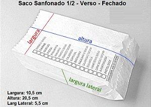 10,000 unidades de Sacos Sanfonados de papel - 1ª Linha - Branco - 1/2 kg 30 g/m² Personalizados (20x16)