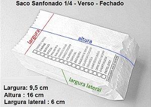10,000 unidades - Sacos Sanfonados de papel Branco - 1/4 kg 30 g/m² - Impressos em Até 2 cores