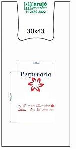30,000 unidades - Sacolas Plásticas Convencionais  - Modelo Alça Camiseta - 30x43 - Capacidade 12 Kg - Personalizadas em até 2 cores em 1 lado