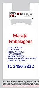 15,000 unidades - Sacolas Plásticas Convencionais - Modelo Alça Camiseta - 60x70 - Capacidade 14 Kg - Personalizadas em até 2 cores em 1 lado