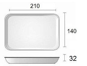 Bandeja de Isopor - 210X140x32 - BRANCA FUNDA - B 2 - LINHA LEVE - FARDO COM 400 UNIDADES