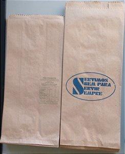 5.000 unidades de Sacos de Papel Mix - Semi-Kraft 40 g/m² - Personalizados em até 2 cores