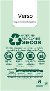 30,000 unidades - Sacolas Plásticas Sustentáveis SP - Modelo Alça Camiseta - 60x70 - Capacidade 9,99 Kg - Personalizadas em até 2 cores em 1 lado
