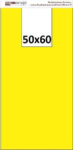 1,000 unidades - Sacolas plásticas LISAS - Tamanho 50x60 - Capacidade 14Kg - Amarelas